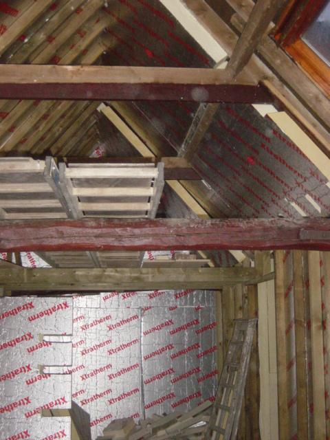 A Timber Frame To Super Insulate A Barn Vaulted Roof