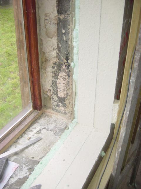 Insulating And Sealing The Barn Window Reveals