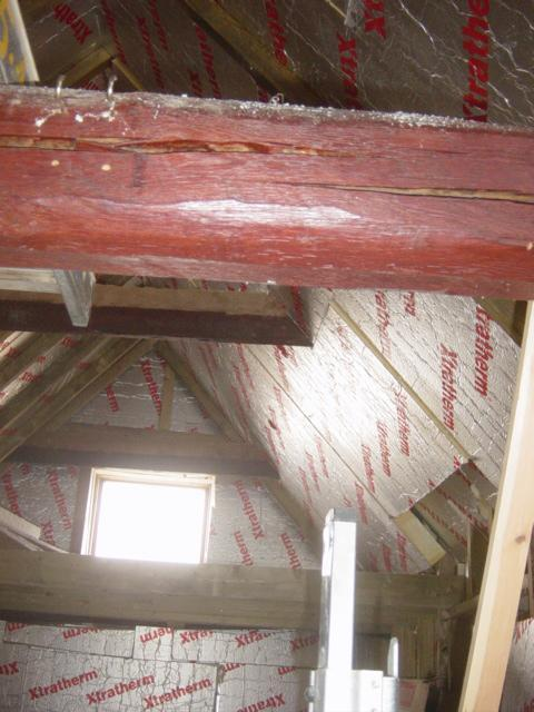 Photographs of super insulating a vaulted barn roof euula Super insulated windows