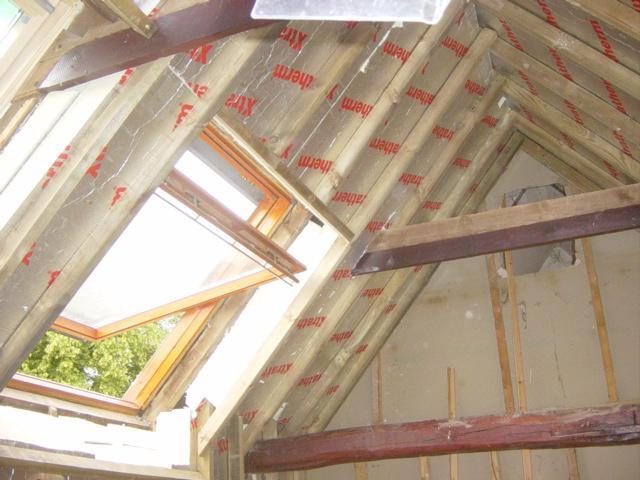 Building a timber frame to support the barn insulation euula Super insulated windows